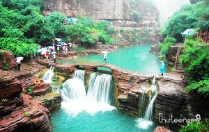 【河南图片】雨一直下 走在红石峡 游在云台仙境中