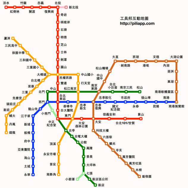 求台铁 高铁 台北捷运高清线路图