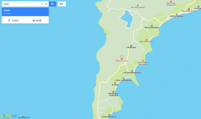 谁有沙美岛的中文地图么?