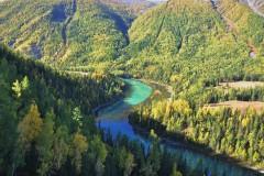 #个人记录# 201009  九天金秋新疆黄金之旅----黄叶、绿水、雅安、峡谷、泥火山、白杨