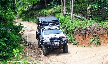 越野车环岛游 泰国苏梅岛纳蒙namuang4x4四驱越野车丛林环岛一天游