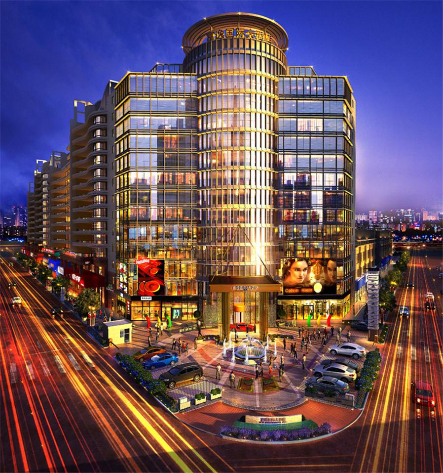 上海富颐国际大酒店坐落于繁华的周浦镇中心,毗邻万达广场,绿地缤纷