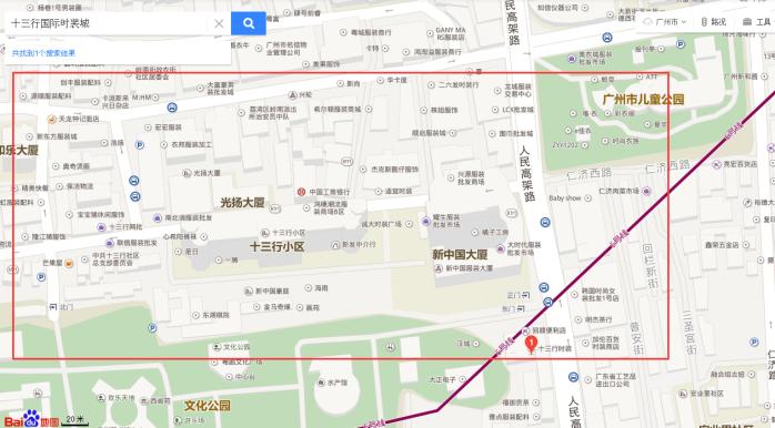 广州亿森皮具城平面图