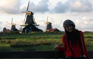 【羊角村图片】荷兰,羊角村风车村