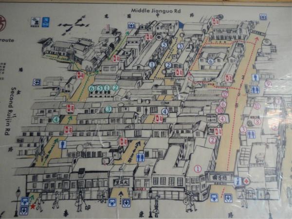 浦西外滩手绘地图