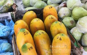 沙巴美食-天桥底榴莲水果市场