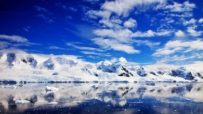 世界 南极/那平静湛蓝的海面,雪白壮观的冰川世界,还有憨态可掬...