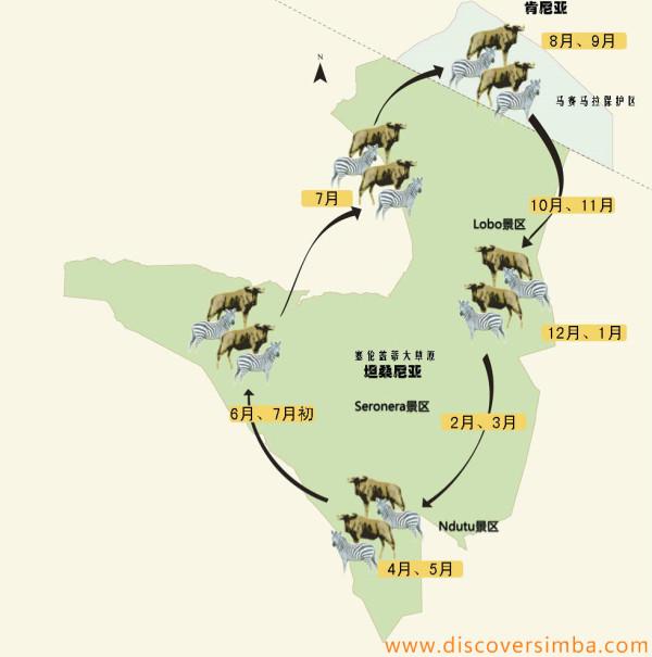 周而复始万年的生活习性,造就了当今规模空前的东非野生动物大迁徙.