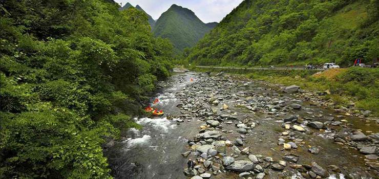 中国亢谷漂流