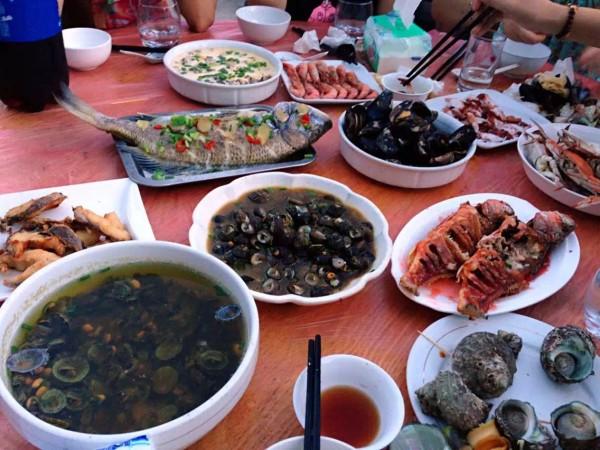 枸杞岛 游记   晚上的海鲜大餐.
