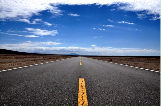 黑白道路背景图片素材