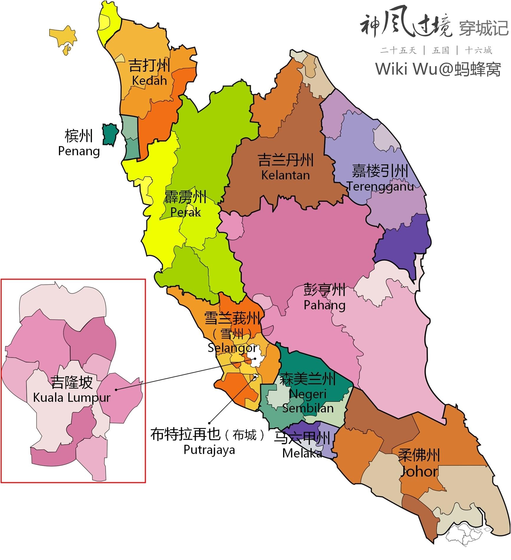 槟城游览路线和景点地图 5,蚂蜂窝马来西亚,吉隆坡,槟城图片