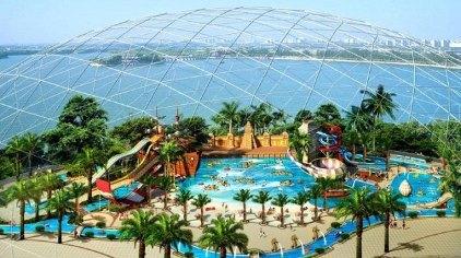 天津天山米立方海世界水上乐园地址位于天津津南区小站镇,占地130亩