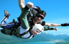 新西兰皇后镇 格林诺奇跳伞 俯瞰魔戒取景地美景