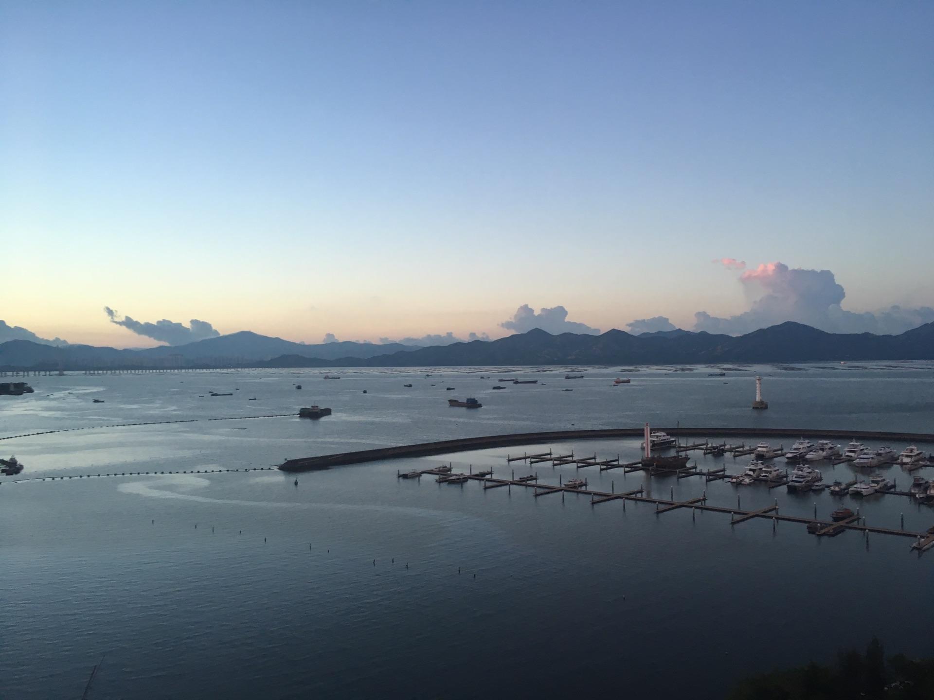 惠州双月湾,那里的还很美丽