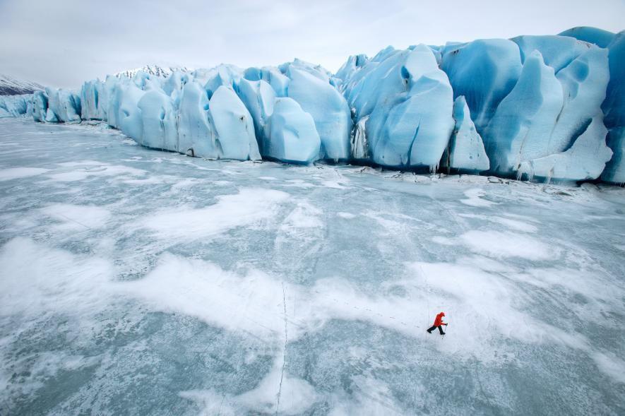 阿拉斯加冰川徒步,亲自踏足这片外太空的幽蓝空间_图13