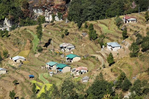 喜马拉雅里阿妈的小木屋